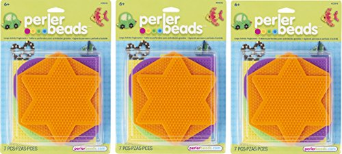Perler 441736 Fun Fusion Pegboards 5-Pack-Assorted Colors (3 Pack) by Perler
