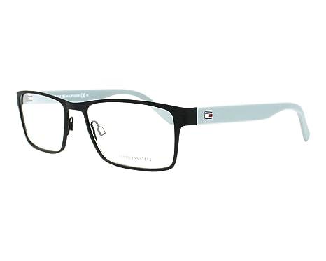 bb8bb8c2b2ff3 Tommy Hilfiger Thilfiger 1420 0VXL Black Gray Eyeglasses at Amazon ...