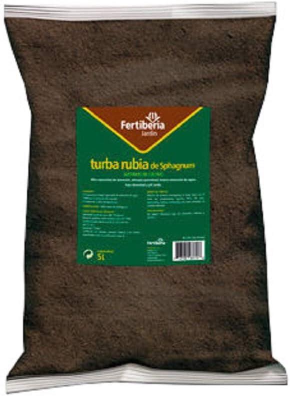 FERTIBERIA Turba Rubia de Sphagnum, Turberas Báltico, Sin Malas Hierbas, Aireación Sustrato, Excelente Retención Agua, Disposición Nutrientes para Sustrato - Bolsa 5 L: Amazon.es: Jardín