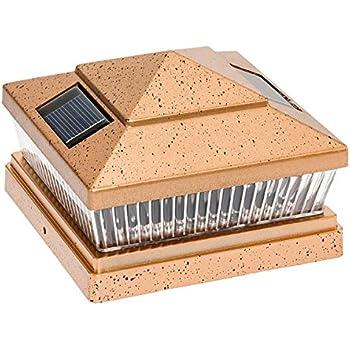 plastic copper 6 x 6 outdoor 5 led 78lumens solar post cap light