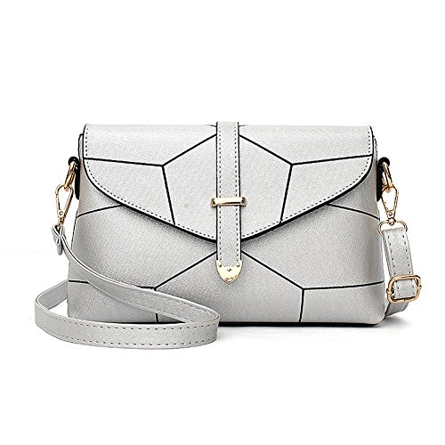 Silver Shoulder Messenger Multifunction Veins Bags Women Bag for Ladies Handbags Ruiren 1wqTv4v