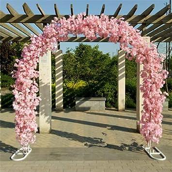 Flores Artificiales de Cerezo con Soporte de Metal para Boda, Arco, Flor de Cerezo + Estante de Arco, decoración de Fiesta: Amazon.es: Hogar