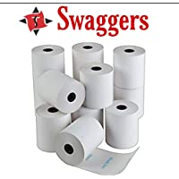 Swaggers Thermal paper roll 57mmx 25 mt Pack Of 10 Rolls
