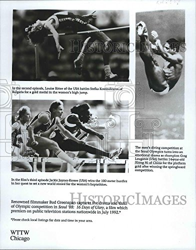 1988 Press Photo Seoul '88: 16 Days of Glory, film about Summer Olympic Games