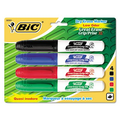 (BICGDEMP41ASST - BIC Great Erase Chisel Point Whiteboard Markers )