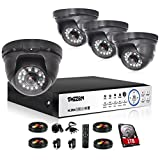 TMEZON 4 Channel AHD Home Security Cameras System 1080P DVR Kit 4x HD 1080P 2.0MP Night Vision Indoor/Outdoor CCTV Surveillance Quick Smartphone View Free App 1TB HDD For Sale