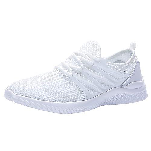 Zapatos Hombre Deportivas Hombre Ofertas Hombres, Zapatos De Malla para Exteriores, con Cordones Y Suelas Cómodas, Zapatos Deportivos para Correr: ...