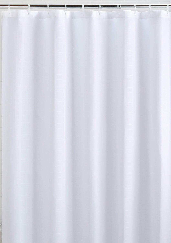 Xderlin Shower Curtain Waterproof, 72X72in Polyester Fabric Waterproof Shower Curtain for Bathroom (White)
