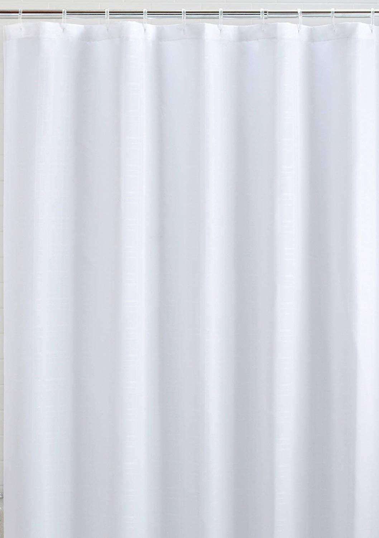 LiBa PEVA 8G Small Bathroom Shower Stall Curtain Liner, 36″ W x 72″ H Narrow Size, Clear, 8G Heavy Duty Waterproof Shower Stall Curtain Liner Anti-Microbial Mildew Resistant