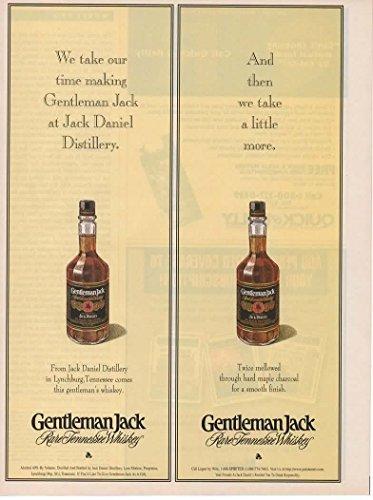 Magazine Print ad: 1997 Jack Daniels Gentleman Jack Tennessee Whiskey,