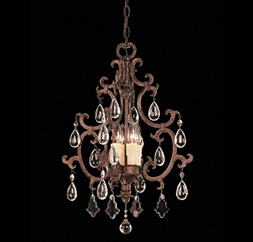 Savoy House 3-1405-4-56 Pendant with Full Cut Clear Crystals Shades, Brown Tortoise Shell Finish (Light Pendant Tortoise Shell)