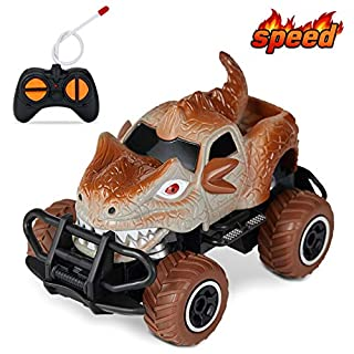 HahaGift Toys for 5 6 4 3 Year Old Boy Gifts,Remote Control Truck for Boys Birthday Gifts for 5 3 6 4 Year Old Boy Toys Age 2-6,Toddler Dinosaur Toys for Boys Gifts Age 3-6(Gray)