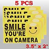 QOJA 5pcs smile youre on camera self-adhensive video alarm safety