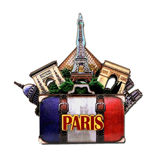 - Effiel Tower Magnet 4 Inch 3D Paris Magnet and Landmarks with Notre Dame