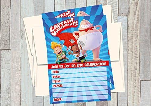 Captain Underpants Invitation Download Captain Underpants Invites Captain Underpants Invitation Captain Underpants Birthday Invitation