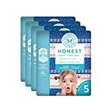 The Honest Company Baby Diapers with True Absorb Technology, Cozy Sweater, Size 5, 80 Count