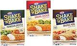 shake and bake chicken - Shake N Bake Variety Bundle: (1) Original Pork 5oz, (1) Original Chicken 4.5oz, and (1) Parmesan Crusted 4.75oz (3 Pack Total)