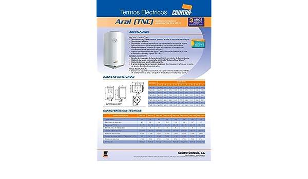 Cointra TNC-150 - Termo Eléctrico Vertical Tnc150 Con Capacidad De 150 Litros: Amazon.es: Hogar