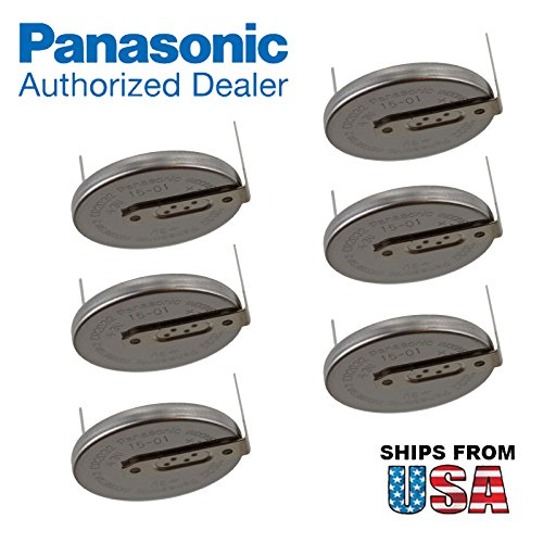 6x Panasonic CR-2032/HU3N 3V Lithium Coin Battery Horz 2 Pins for PC CMOS Yaesu FT-209RH Kenwood TM221A Lenovo T43 Laptop CMOS BatteryThinkPad T 43 IBM 02K6541 Compaq Presario V6000 -