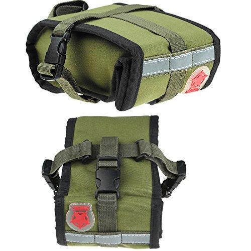 Abonnylv Folding bike Cycling Seat Bag Road Bicycle Bike Personalized Canvas Saddle Bag Basket Seat Bag Army Green