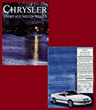 1989 CHRYSLER-JEEP FULL LINE HUGE COLOR SALES BROCHURE FOLDER - CHRYSLER INTERNATIONAL - GERMAN - EXCELLENT ORIGINAL !!