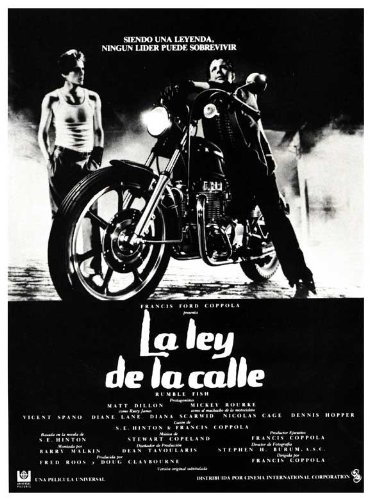 Rumble Fish Poster Movie Spanish 11x17 Matt Dillon Mickey Rourke Dennis Hopper Diane Lane