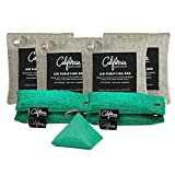Bamboo Charcoal Air Purifying Bag Bundle (9-Pack) 200-g, 100-g & 50-g Odor Absorber Charcoal Bags with Hooks, Odor Eliminators for Home, Car Odor Neutralizer, Kitchen Odor Absorber, Closet Deodorizer