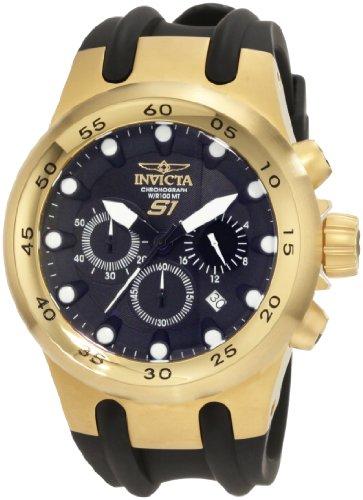 Invicta Men's 1509 Specialty S1 Chronograph Black Dial Black Polyurethane Watch
