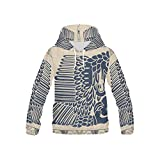 LumosSports Native American Indian Art Print Kid's 3D Printed Pullover Hooded Sweatshirt