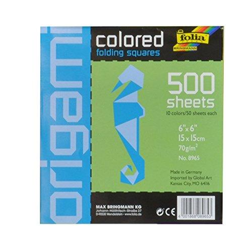 Folia 8965 - Faltblätter, 500 Blatt, 10 Farben