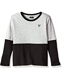 Boys' Long Sleeve Quilted Two-Fer T-Shirt