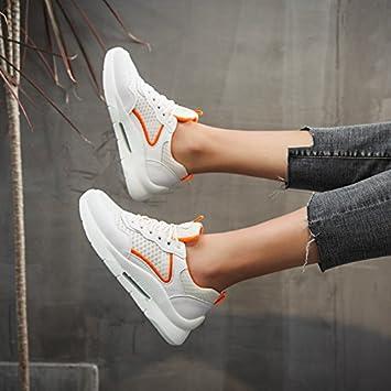 NGRDX&G Zapatos Casuales De Malla Transpirable Zapatos Blancos Femeninos, Naranja, ...