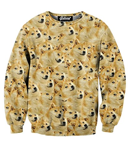 Beloved Shirts Doge Sweatshirt - Premium All Over - Doge Sweatshirt