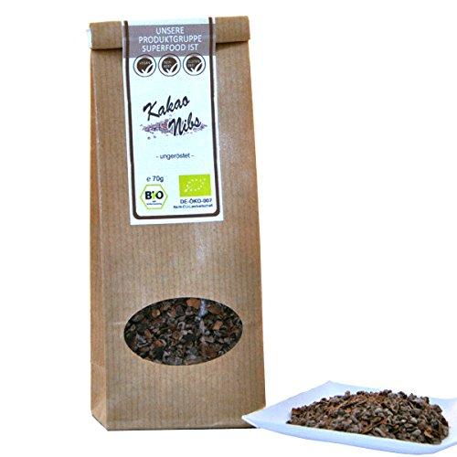 direct&friendly Bio Kakao Nibs ungeröstet, ungesüßt in Rohkost Qualität