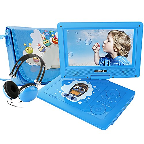 "FUNAVO 9.5"" Portable DVD Player with Headphone, Carring Case"