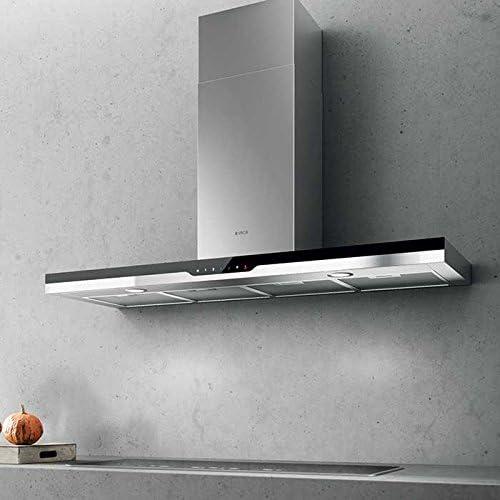 Elica Top Sense IXBL/F/90 De pared Negro, Acero inoxidable A - Campana (Recirculación, 64 dB, 50 cm, 65 cm, De pared, Negro, Acero inoxidable): Amazon.es: Hogar