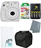 Fujifilm Instax Mini 9 Instant Camera – 6 Pack Camera Bundle White