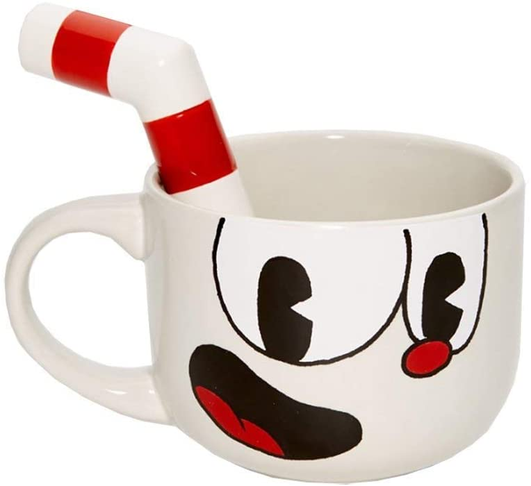 Cuphead 20 Ounce Ceramic Molded Mug - Licensed Collectible Gaming Accessories- Unique Novelty Kitchen Drinkware - Perfect for Collectors, Birthdays, Holidays, House Warming Parties
