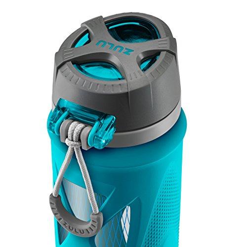 Zulu Atlas Glass Water Bottle with Flip Lid