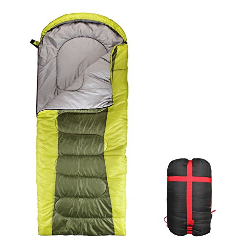 Aukee Sleeping Bag Outdoor Portable Waterproof Comfort Camping Gear with Compression Sack for Backpacking Traveling Hiking (32°F~59°F)- Right Side Zipper
