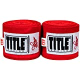 """Title Boxing ALI Sting Hand Wraps 170"""", Red"""