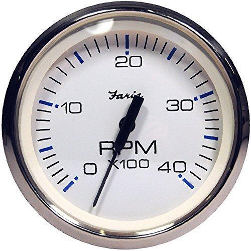 Faria Chesapeake Weiß SS 4 Tachometer 33818 by Faria BA Instrumente