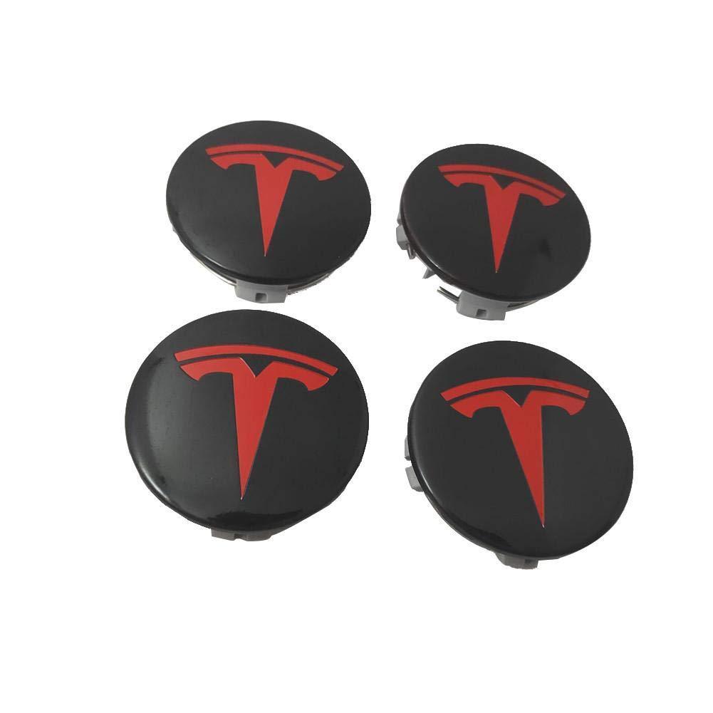 4-Rad-Mittelabdeckung + 20-Radmutternabdeckung f/ür Tesla Model X S 3-Rad-Nabensatz happygirr Aero Radkappensatz