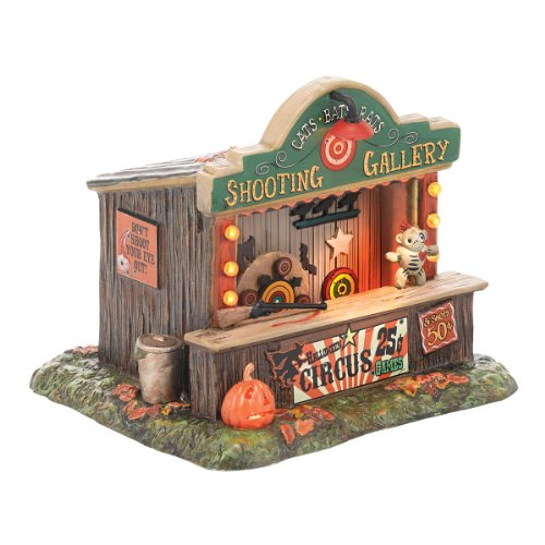 Department 56 Halloween Accessories Village Cats and Bats Ornamenting Animated Gallery, 6.1-Inch (Halloween Accessories)