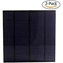 SUNWALK 2 Pieces 3W 6V PET Encapsulated Solar Cell Mini DIY Solar Panel Kit for DIY Solar System and Education Test 145x145mm (3W 6V)