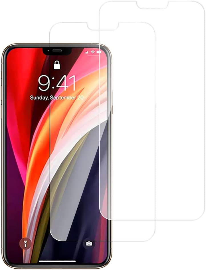 Screen Protector for Phone 12 Pro (6.1 inch) Smart Phone 2020 9H Tempered Glass Screen Cover HD Clear Bubble-Free Phone Protectors for i Phone 12 Max (2 Pack)
