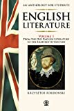 img - for English Literature An Anthology for Students 1 book / textbook / text book