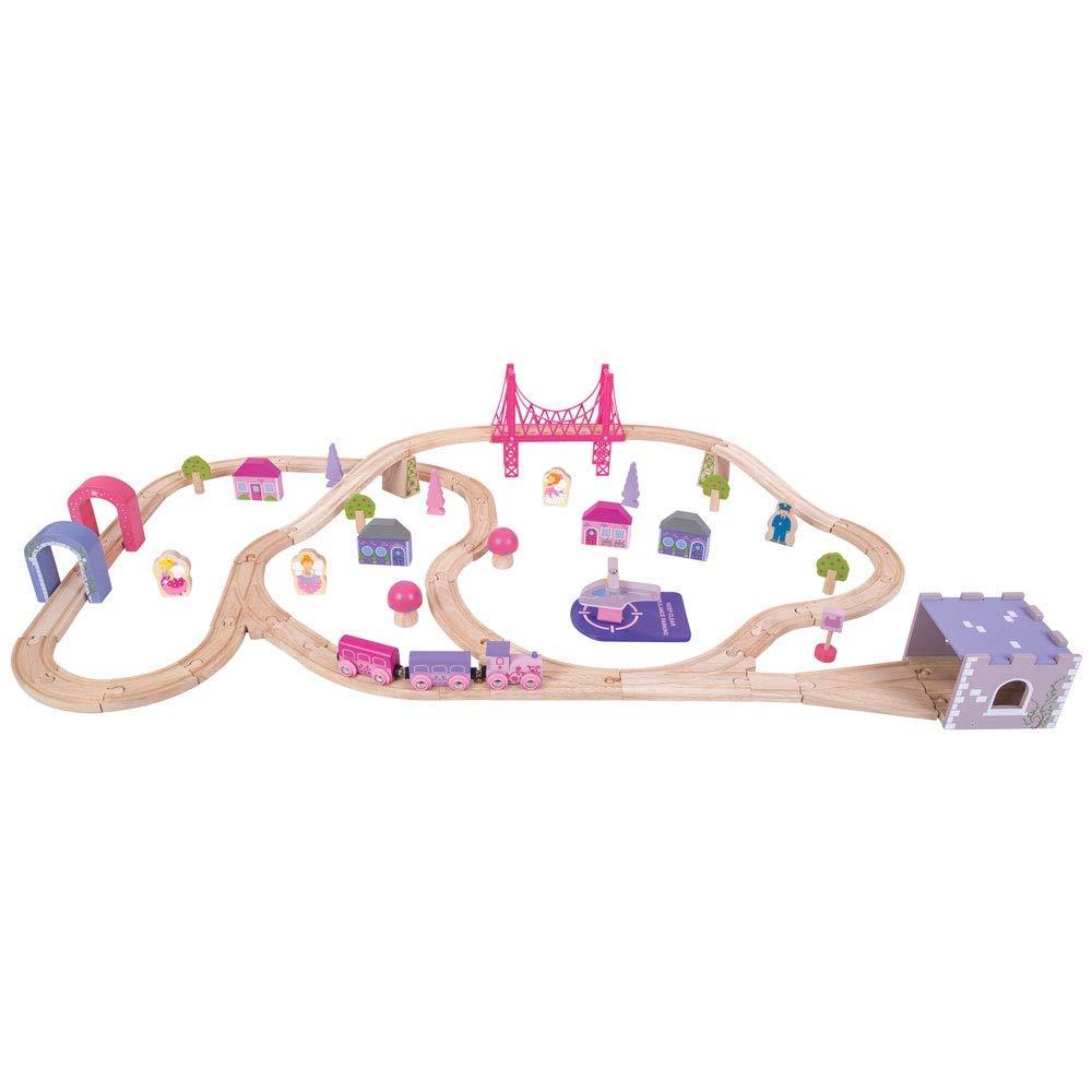 Bigjigs Rail Wooden Fairy Town Train Set 75 Play Pieces