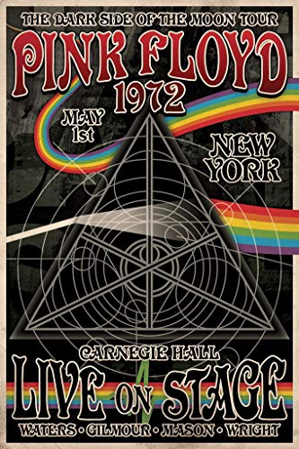 Rock Small Poster - Pink Floyd 1972 Carnegie Hall Poster 24 x 36in