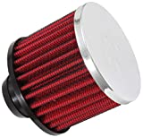 K&N Vent Air Filter/ Breather: High Performance, Premium, Washable, Replacement Engine Filter: Filter Height: 2.5 In, Flange Length: 1 In, Shape: Breather, 62-1490